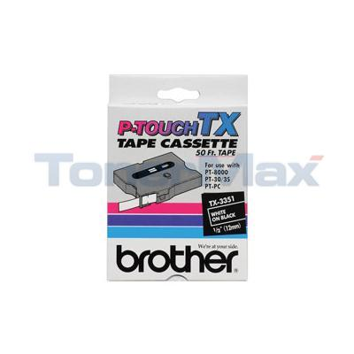 BROTHER P-TOUCH TAPE WHITE/BLACK (1/2 X 50)